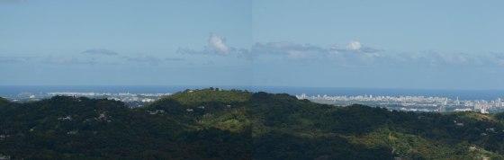 View of San Juan (See El Morro at the far left?)