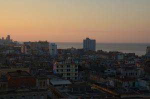 Sunset over Havana our last night