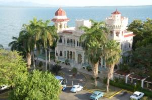 Afternoon view of the Palacio de Valle next door.