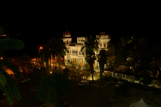 Night view of the Palacio de Valle - photogenic isn't it?