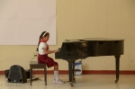 Young musician at the Benny Moré School (she's a second grader)