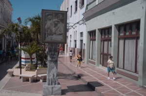 The beginning of the Boulevard in Cienfuegos