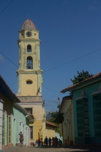 Iconic bell tower in Trinidad