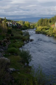 The Truckee River runs through town.