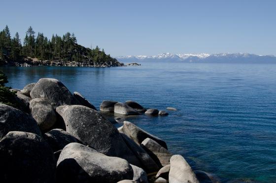 Huge boulders on the Nevada side of Lake Tahoe