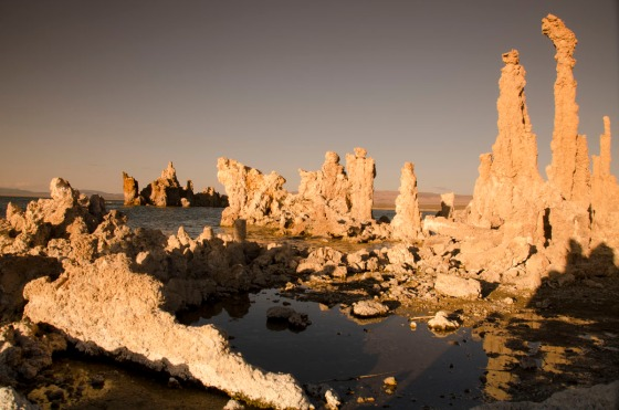 Tell me this isn't cool!  Tufa in the late afternoon sun.