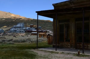 Looking up towards the mine - That was the reason for this town.  When the mine was depleted, the town was abandoned..