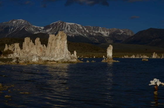 Mono Lake in the morning.  The mountains behind are in Yosemite National Park.