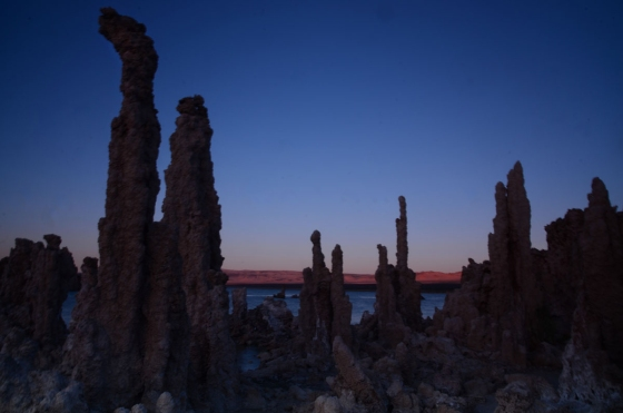 Tufa by sunset