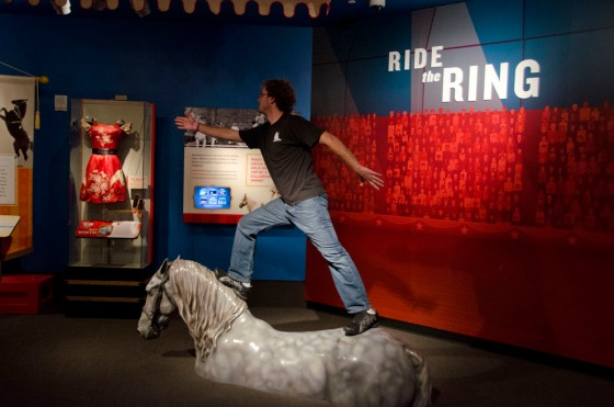 Oscar testing his circus skills