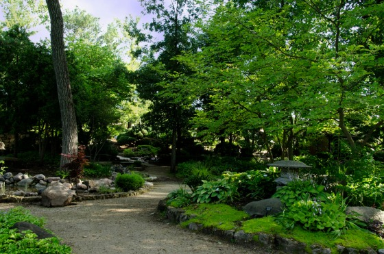 Paths lead you through the garden, and the plantings keep you centered in the present.