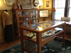 One view of the current Parker Pen Collection exhibit.