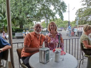 The Happy Couple at Cafe du Monde