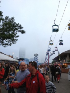 One of the rides and an idea of the fog.