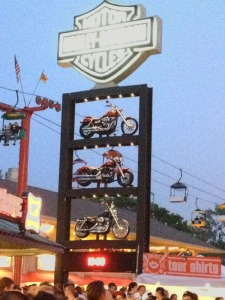 """The """"billboard"""" for the Harley Davidson Roadhouse."""