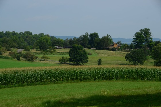 View from FLW's sister's house looking towards Taliesin.