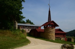 The approach to the barn