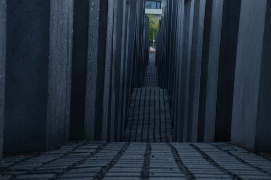 A detail shot of the Holocaust Memorial