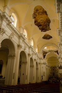 The interior of San Carlo in Noto.
