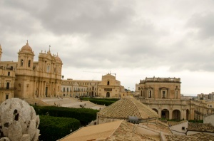 The View from the bell tower on San Carlo (Noto)