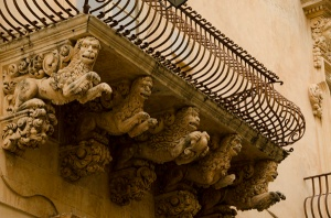 Detail of the balcony supports of one of the famous palazzi - Aren't they great? Every balcony had something different!