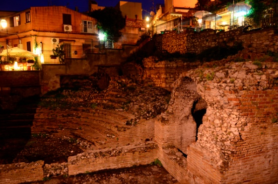 "The Roman ""odeon"" found beneath the church of Santa Caterina."