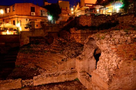 "The Roman ""odeon"" found beneath the church of Santa Caterina."