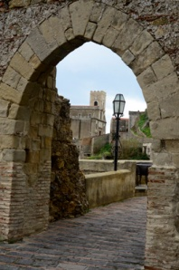 Arched entrance to Savoca.