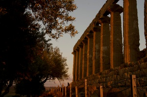 The sun was on its way down just as we entered the ruins in Agrigento.