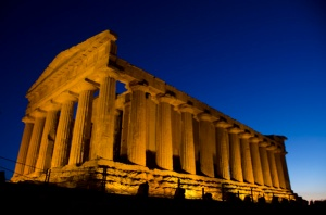 The Temple of Concordia at night - definitely worth the visit!