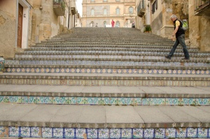 The ceramic steps in Caltagirone.