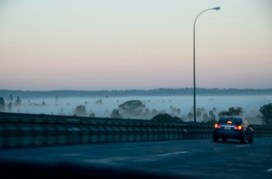 Coronado in the fog.