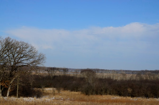 You can actually see the water of Lake Koshkonong near the horizon.  In the summer, you wouldn't even know it was there.