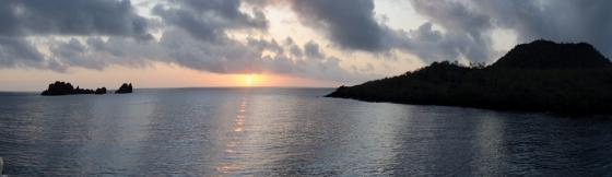 Sunrise at Floreana