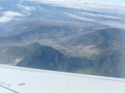 Shot from the plane - looking towards Quito.