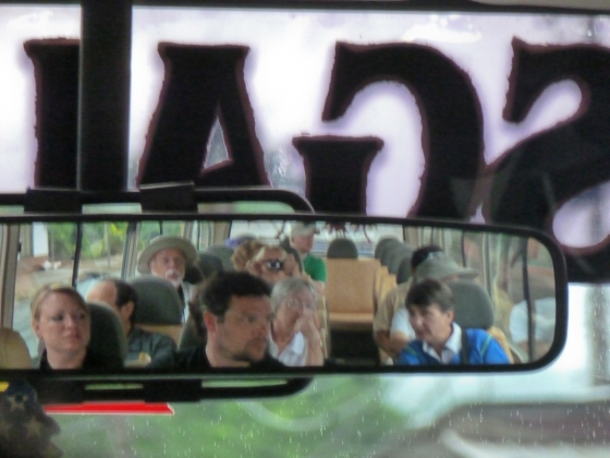 A look in the rear view mirror of our bus! (Something different...?)