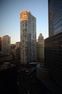 The view from my room at the Langham Hotel. I absolutely love Chicago - my first big city adventures were here as a child.