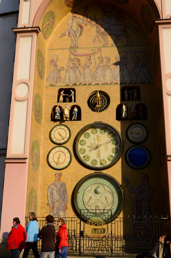 The Astronomic Clock with the Proletarian figures.