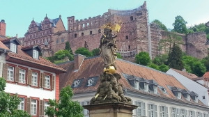 Heidelberg - Square with view of the castle