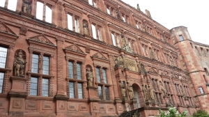 Detail of the facade of the Heidelberg Castle