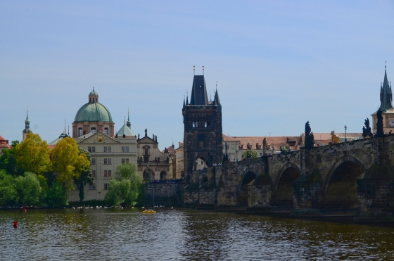 Another view of the Charles Bridge, looking the other way.