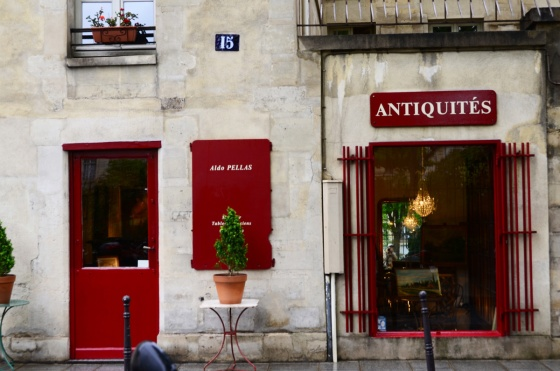 This is a little shop in Le Marais.