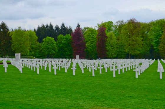 Just to give you an idea of how many died.  And not so far away there is a graveyard for the Germans who died, too.