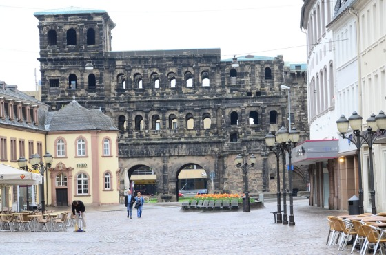 The Porta Nigra, of Roman origins, dominates the down of Trier.