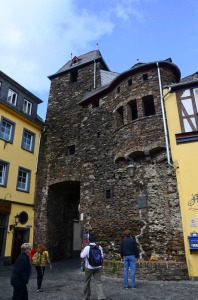 One of the old town gates in Cochem.