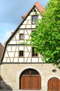 This was a variation on the half-timbered house style that we only saw in Rothenburg.
