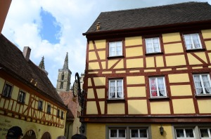 Rothenburg has half=timbered houses, too!