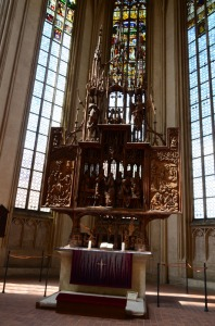 The high altar by Tilman Riemenschneider