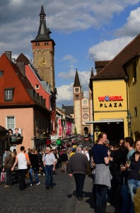 Picture of the town of Wurzburg - pretty lively!