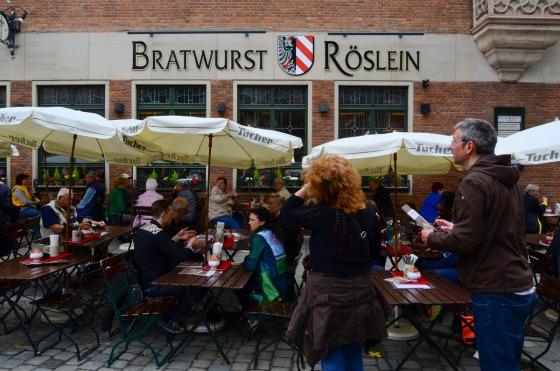 Restaurant where we had our Nurnburger bratwurst